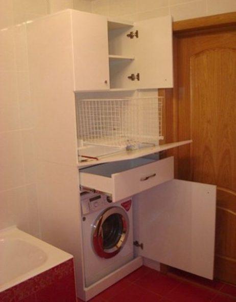 Встроенный шкаф для стиральной машинки