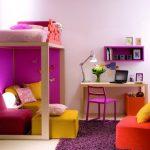 Яркие цвета в спальне девочка подростка