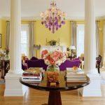 Желто-фиолетовая гостиная