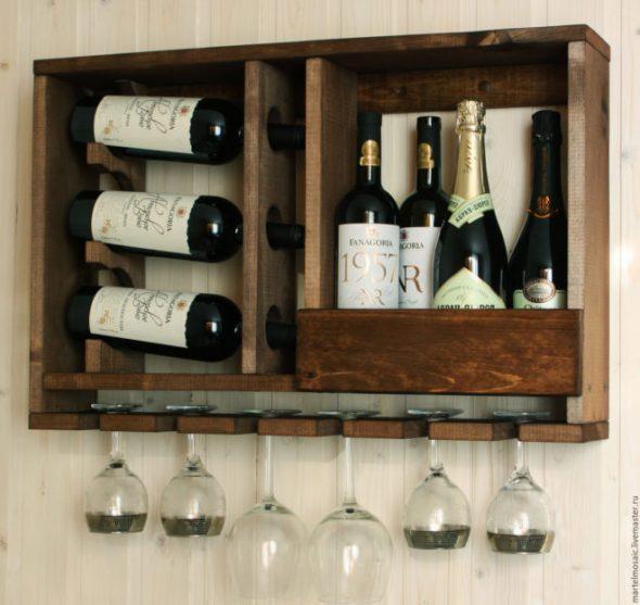 Стеллаж для вина на кухне