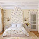 Бабочки и цветочки для шикарной спальни