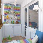 Детский шкаф с игровой зоной на балконе