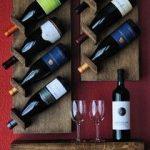 Диагональные полки для вина