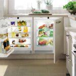 Две холодильные камеры под столешницей для семьи