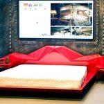 Экстравагантная кровать, похожая на межгалактический корабль