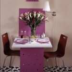 Фиолетовый складной стол