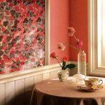 Крашеные стены с росписью в качестве декора