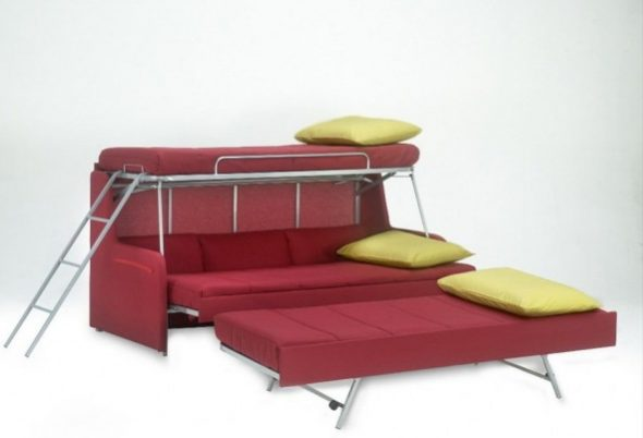 Кровать-трансформер для троих детей