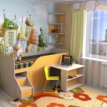 Милая детская с кроватью и выдвижным столиком