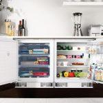 Морозильная и холодильная камера под столешницей