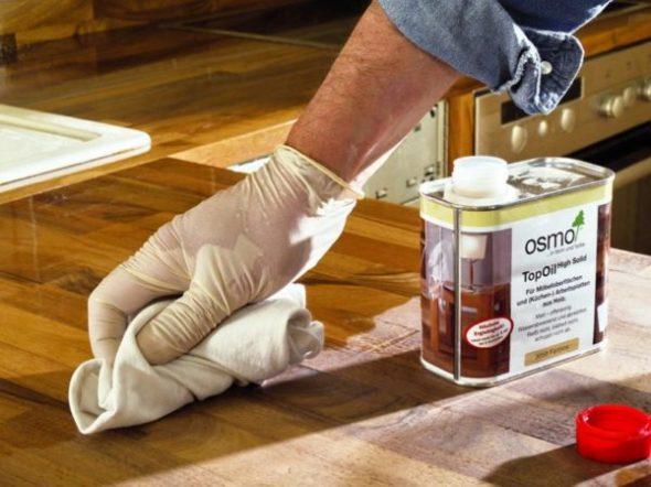 Наносим масляное покрытие