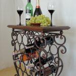 Подставка-столик для вина кованая