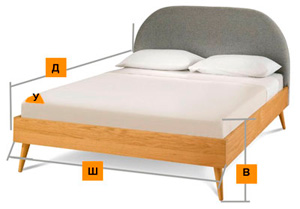 Снимаем замеры кровати