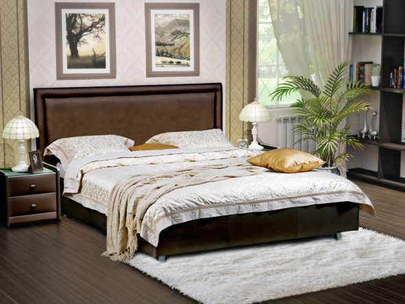 Простая и строгая кровать Domenico