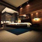 Шикарная парящая кровать с подсветкой