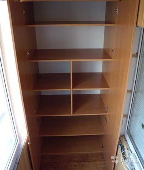 Шкаф на балконе из ДСП