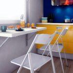 Складная барная стойка на кухне
