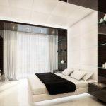 Современная спальня - просторная, светлая и легкая