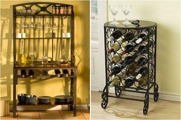 Стеллажи с вином