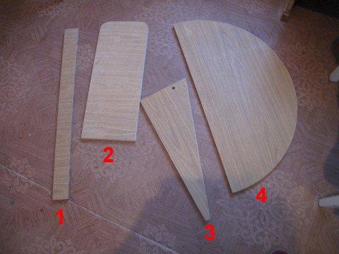 Заготовки для откидного стола