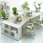 Белая современная мебель для персонала