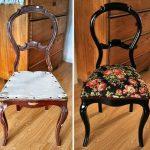 Декор стул при помощи ткани