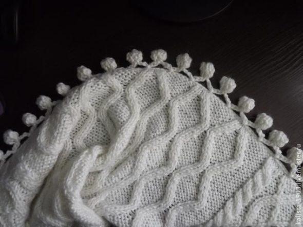 Белое нарядное покрывало