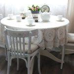 Декорирование венских стульев кружевом