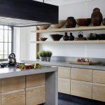 Дерево и бетон для кухонного гарнитура