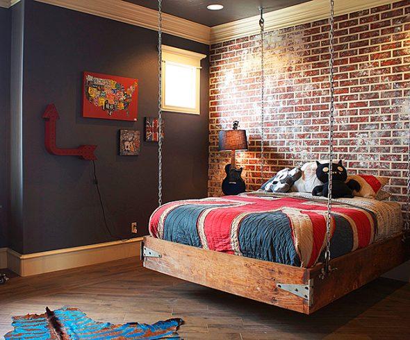 Необычное спальное место на цепях