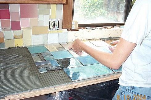 Для реставрации используется керамическая плитка