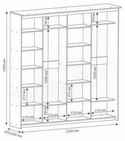 Эскиз углового шкафа