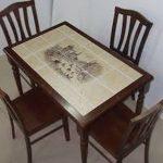 Кафельная плитка для обновления кухонного стол