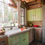 Кухонная мебель в технике браширование