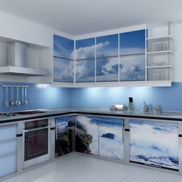 Кухонный гарнитур обкленный пленкой