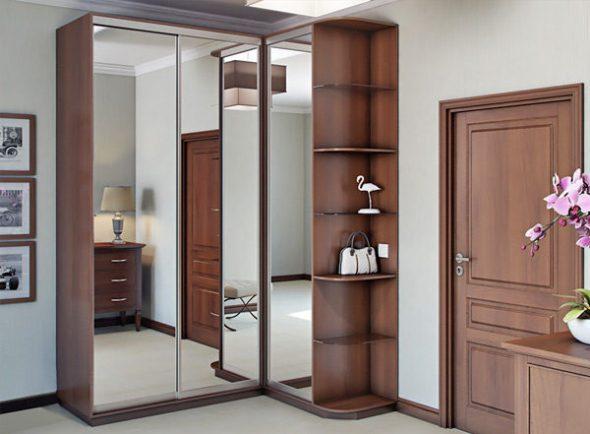 Зеркальная модель углового шкафа