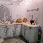 Оригинальное оформление кухонного гарнитура