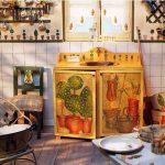 Отреставрированная кухня в деревенском стиле