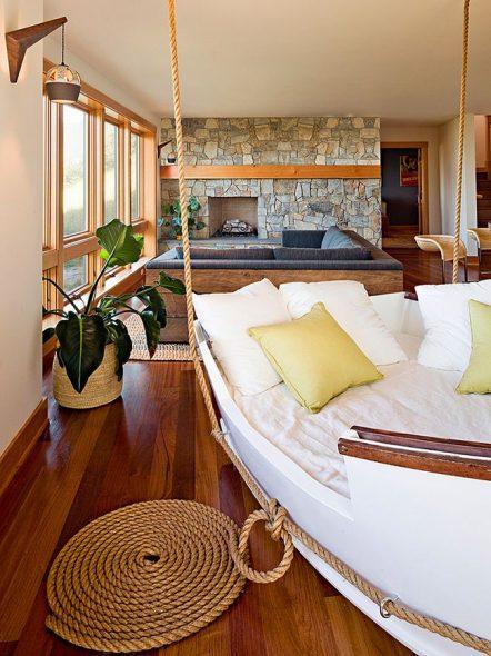 Подвесная кровать-корабль