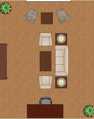 Разделение гостиной на зоны