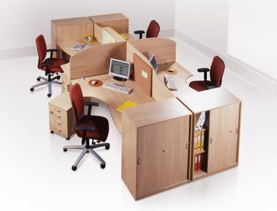 Разграничение отдельных персональных зон работников офисны