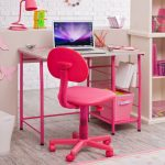 Розовый стул для школьника младших классов с регулировкой высоты