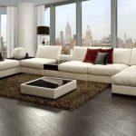 Шикарный белый диван в интерьере