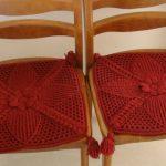 Сидушки на стул крючком