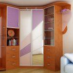 Современный угловой шкаф в интерьере