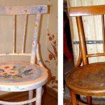 Старый и новый вариант одного стула