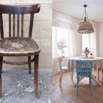 Старый венский стул до и после реставрации