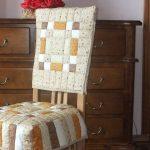 Стеганая подушка и накидка на стол