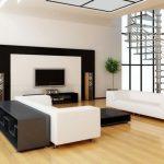 Стильная симметричная гостиная