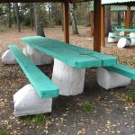 Разноцветные стол и лавки для беседки – делаем сами